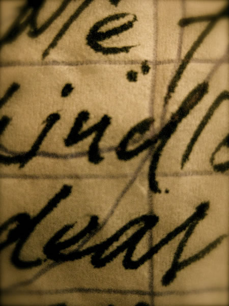 The handwritten