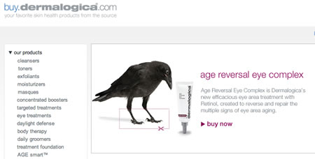 Ravens + Dermalogica: Brand allegories with Corvids