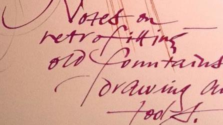 The script of connectedness: handwritten notes
