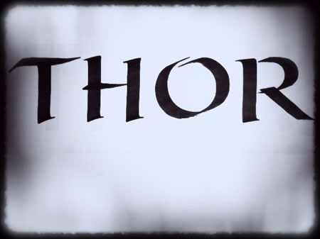 THE LOGO FOR THE MOVIE THOR