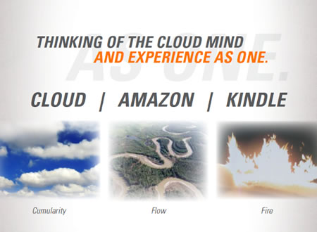 Metaphorical thinking | The Allegory of Amazon -- The River, The Fire of Kindle, The Knowledge Cloud