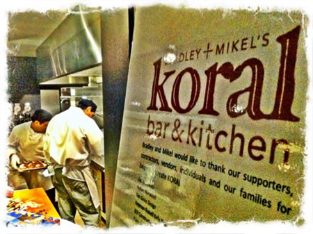 The birth of a new brand | Bradley + Mikel's Koral bar & kitchen