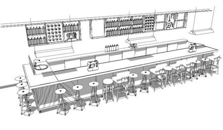 The Spool: Papiota Café: Cut, sew, drink -- a new mix.