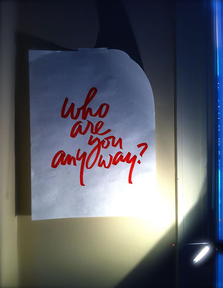 WHO ARE YOU, ANYWAY?