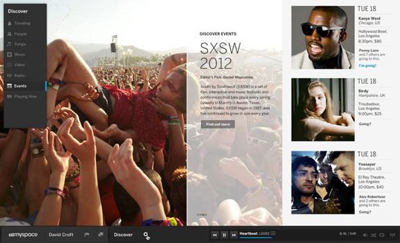 MySpace Interface
