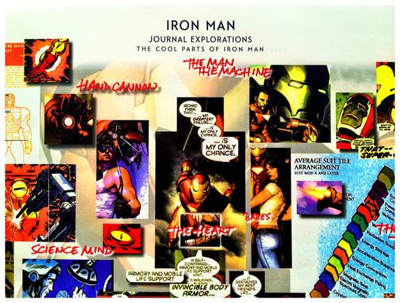 Visualizing the layering of identity: Iron Man