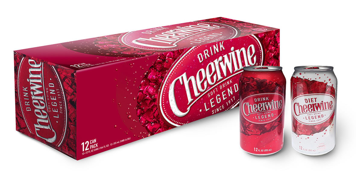 Cheerwine 12 Can Packaging
