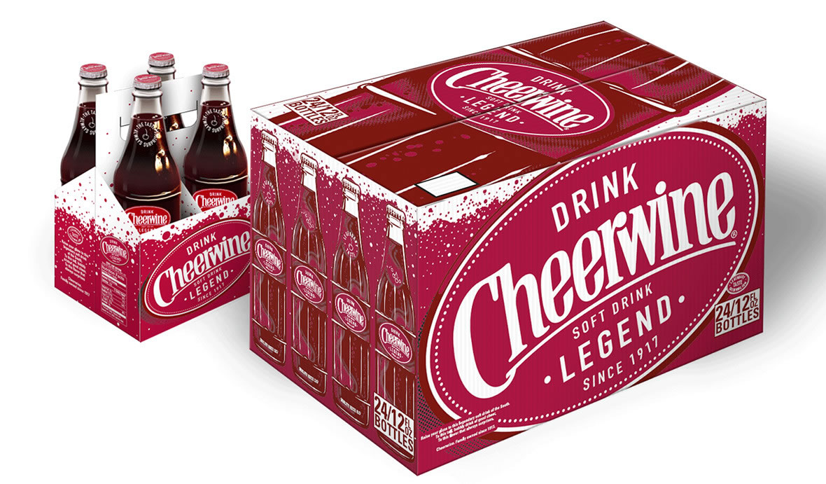 Cheerwine Packaging | 12 pack and 6 pack