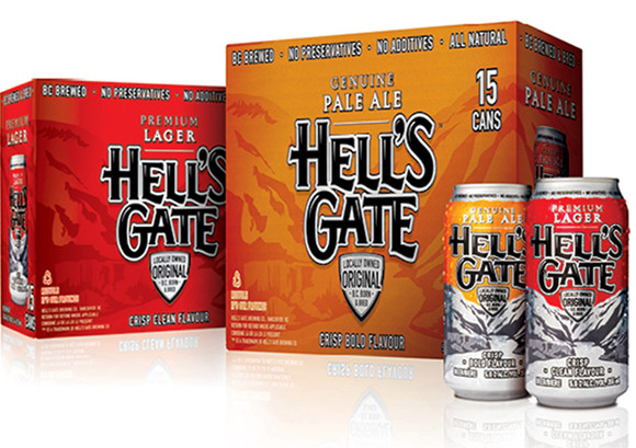 Hell's Gate 15 And 12 Can Packaging