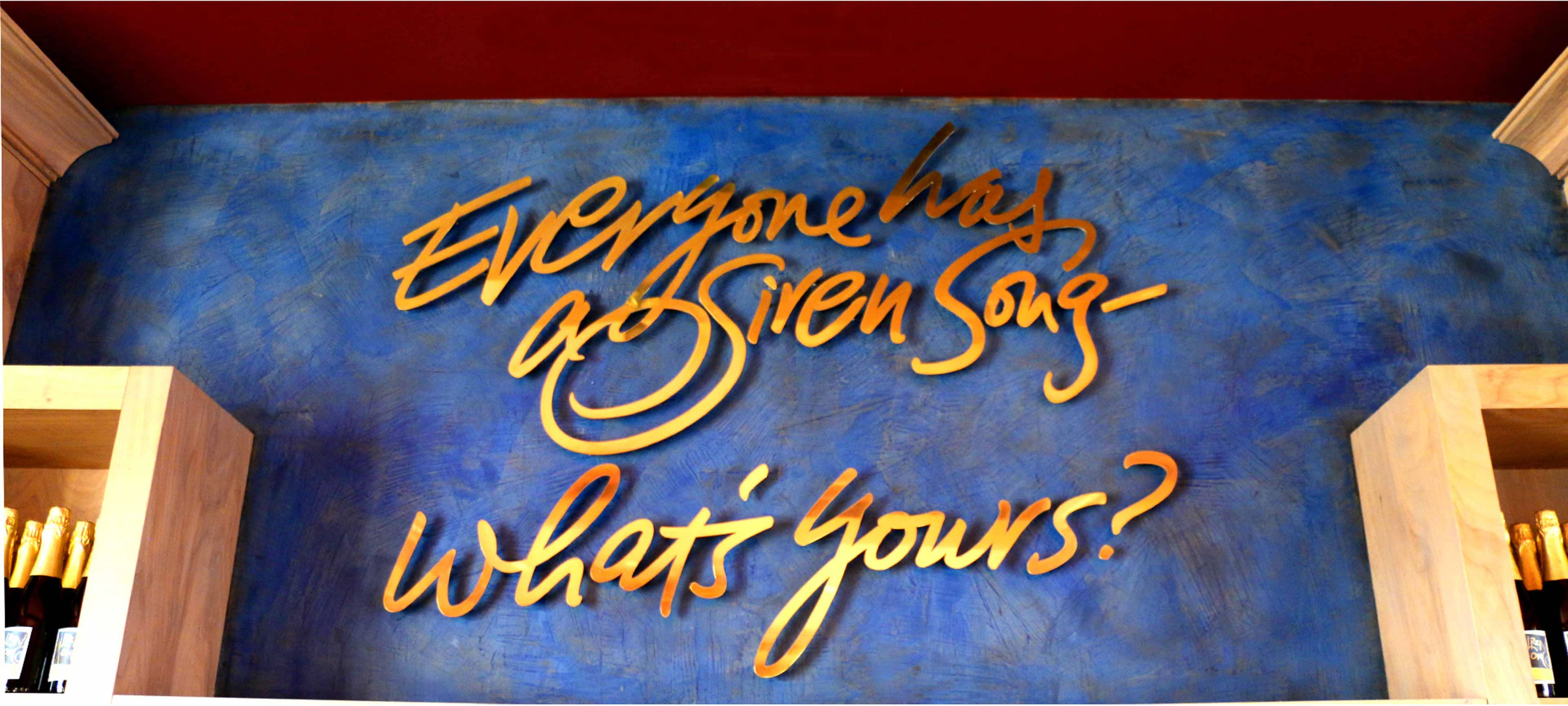 Siren Song Wall Signage