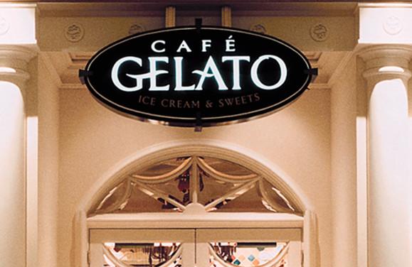 Bellagio Cafe Gelatio Logo and Signage
