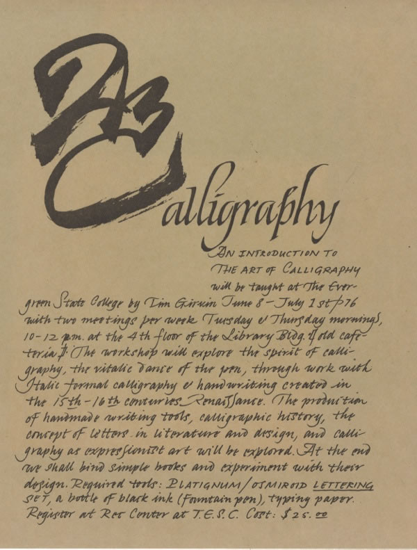 The Handmade Journey | Calligraphy