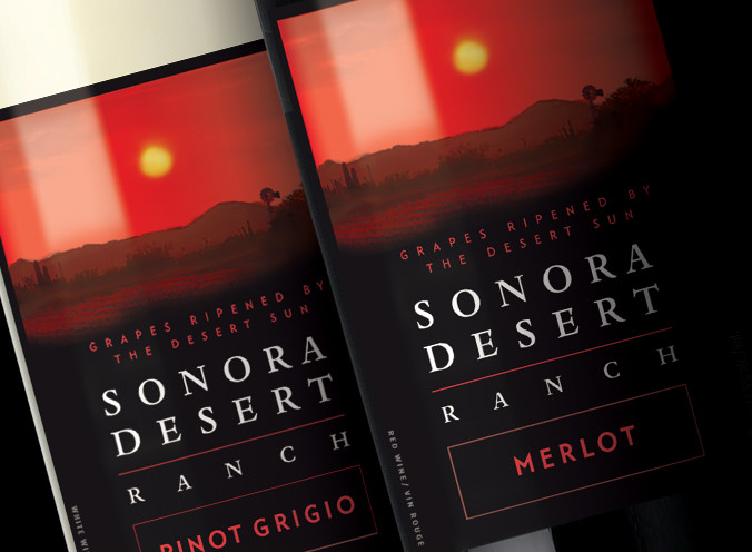 Sonora Desert Ranch Wine Label