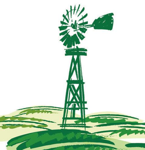 Sonora Desert Ranch Illustration