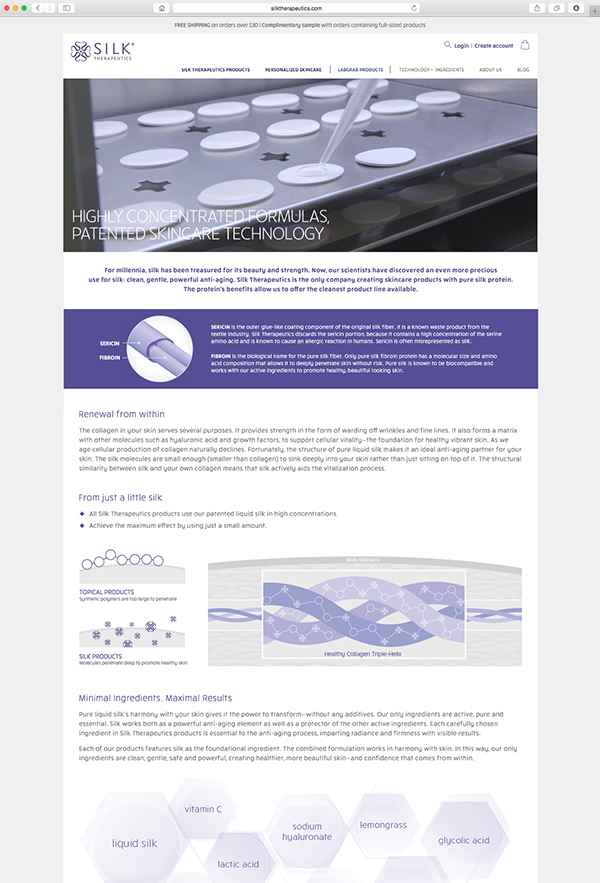 Silk Therapeutics Website