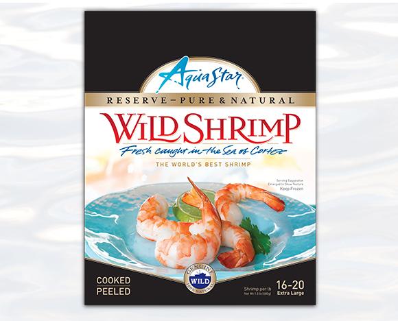 AquaStar Wild Shrimp Packaging