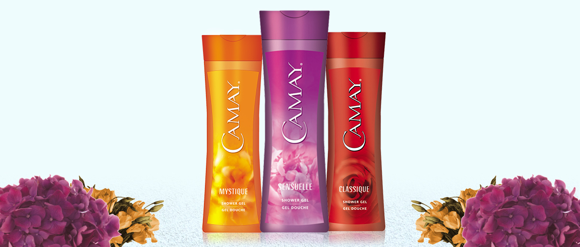 Camay Body Wash Packaging Lineup
