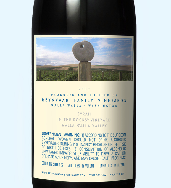 Reynvaan Vineyards Back Label