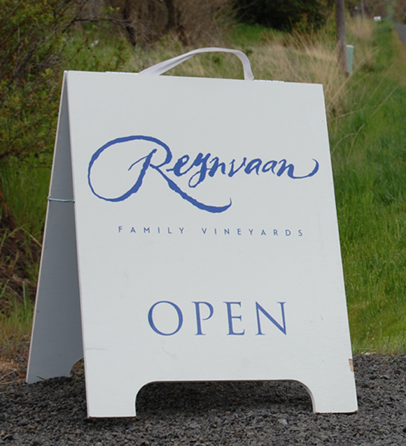 Reynvaan Vineyards A-Frame Signage
