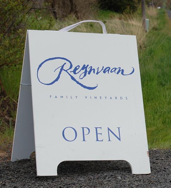Reynvaan Vineyards A-Frame Signage
