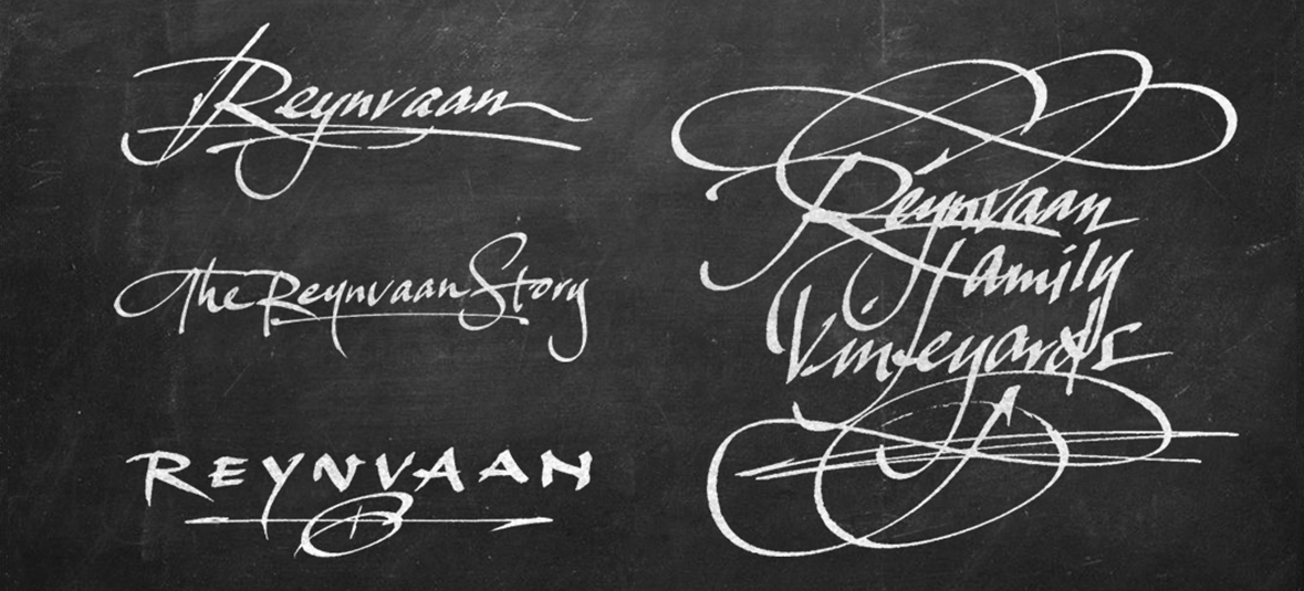 Reynvaan Vineyards | Custom Lettering and Font