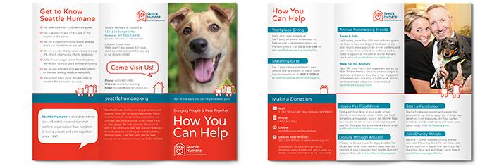 Seattle Humane Marketing Brochure