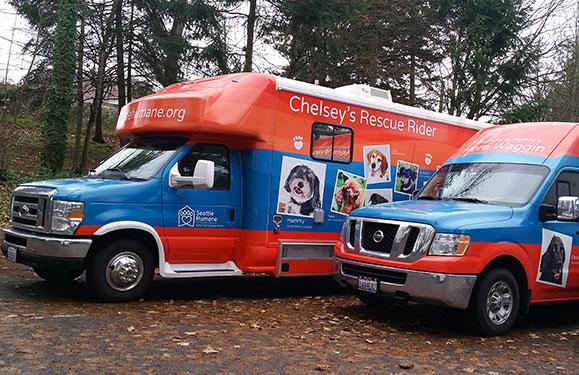 Seattle Humane Vehicle Graphics