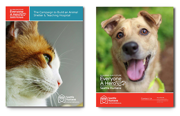 Seattle Humane Marketing Brochure Covers