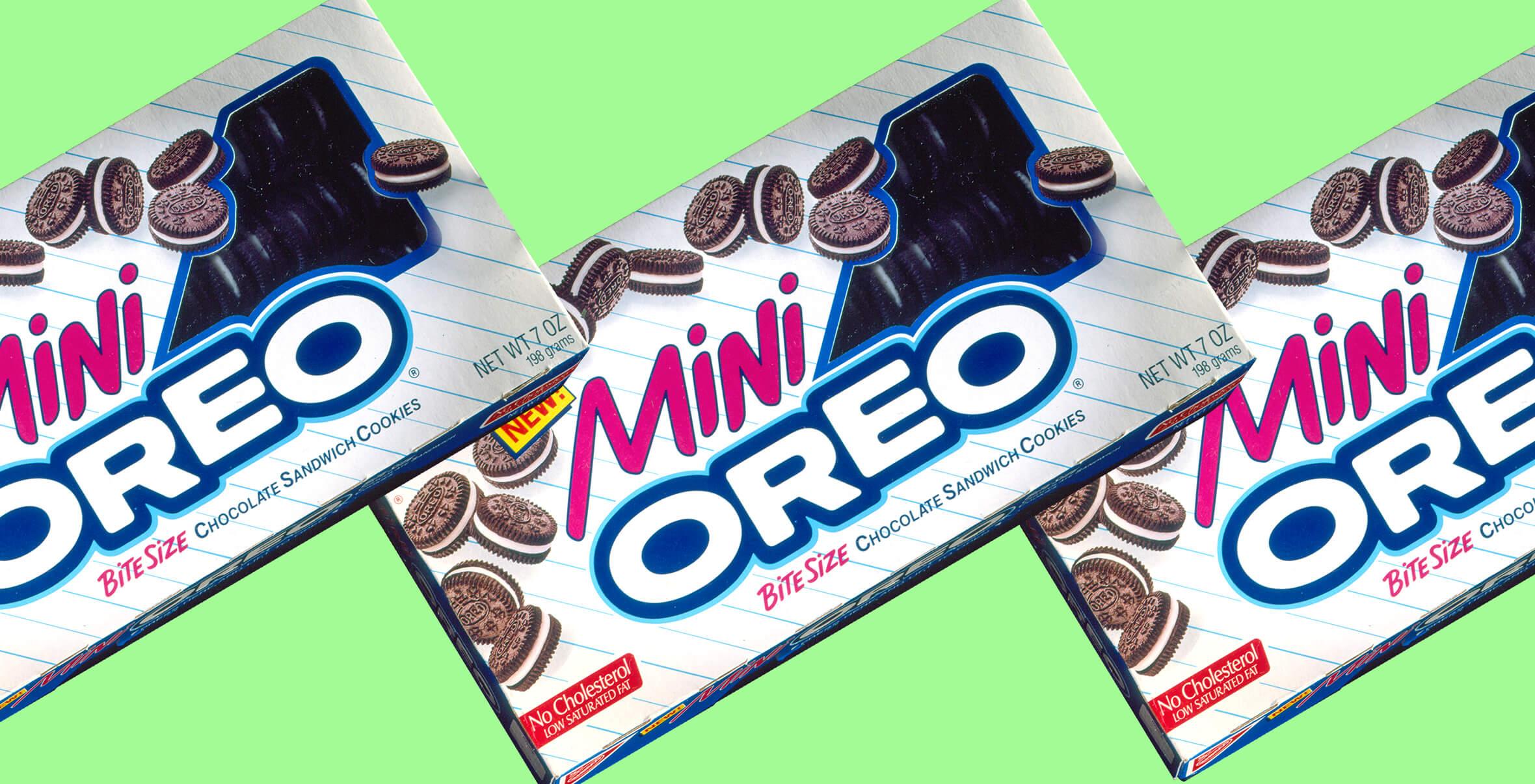 Nabisco Mini Oreo Logo and Packaging