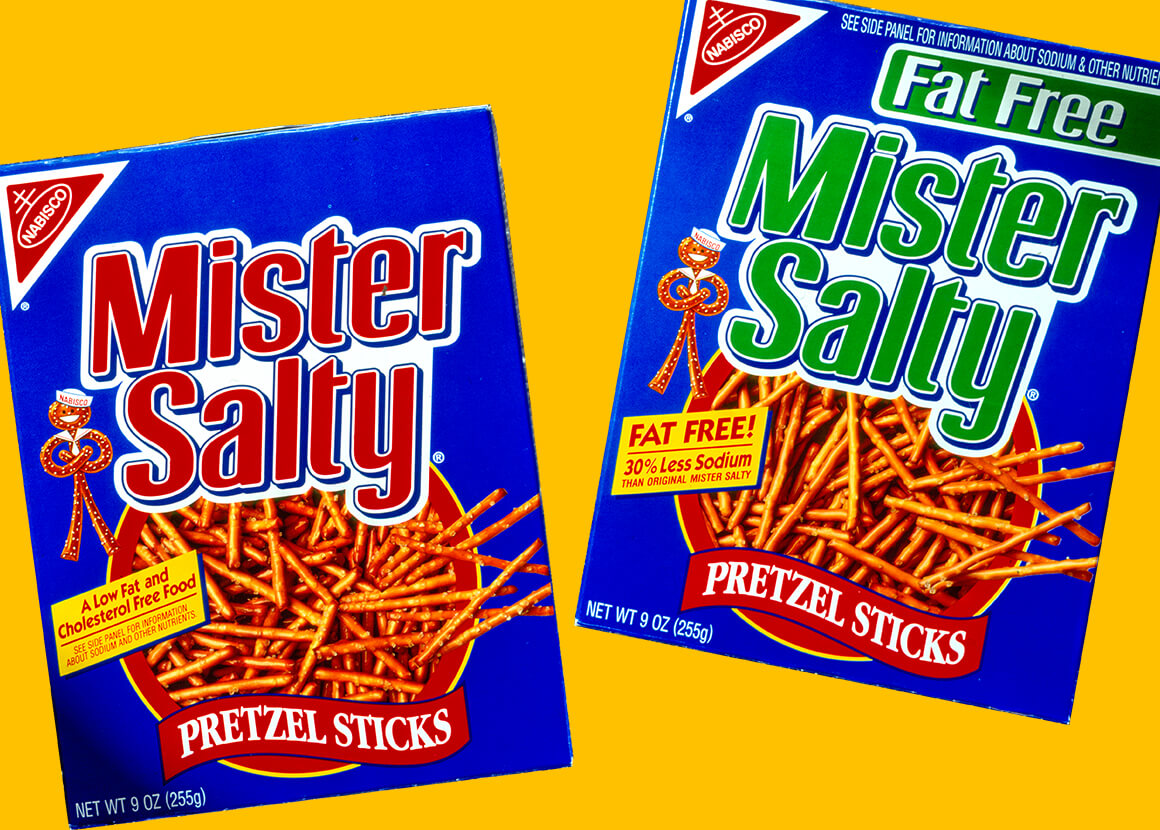 Nabisco Mister Salty Packaging