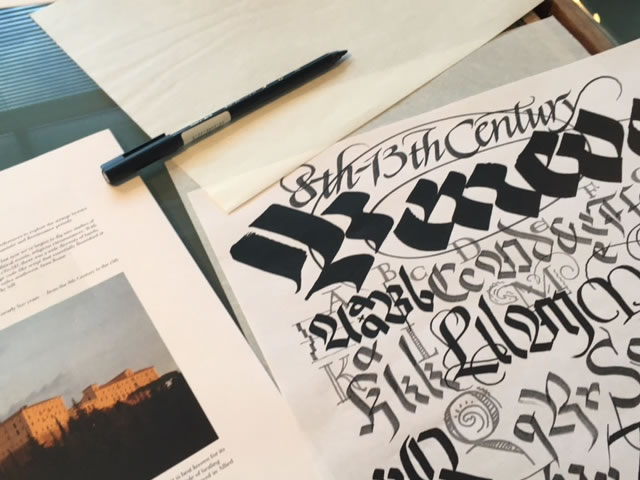 BREATHING TIME | THE ALPHABETIC JOURNEY OF GIRVIN's CALLIGRAPHY CLASSES