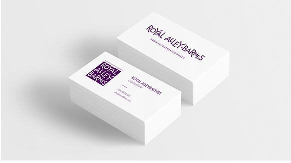 Royal Alley Barnes, Business Card Design