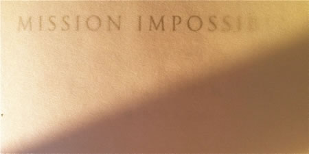 DESIGNING THE IMPOSSIBLE: MISSIONS IN GRAPHIC IDENTITY