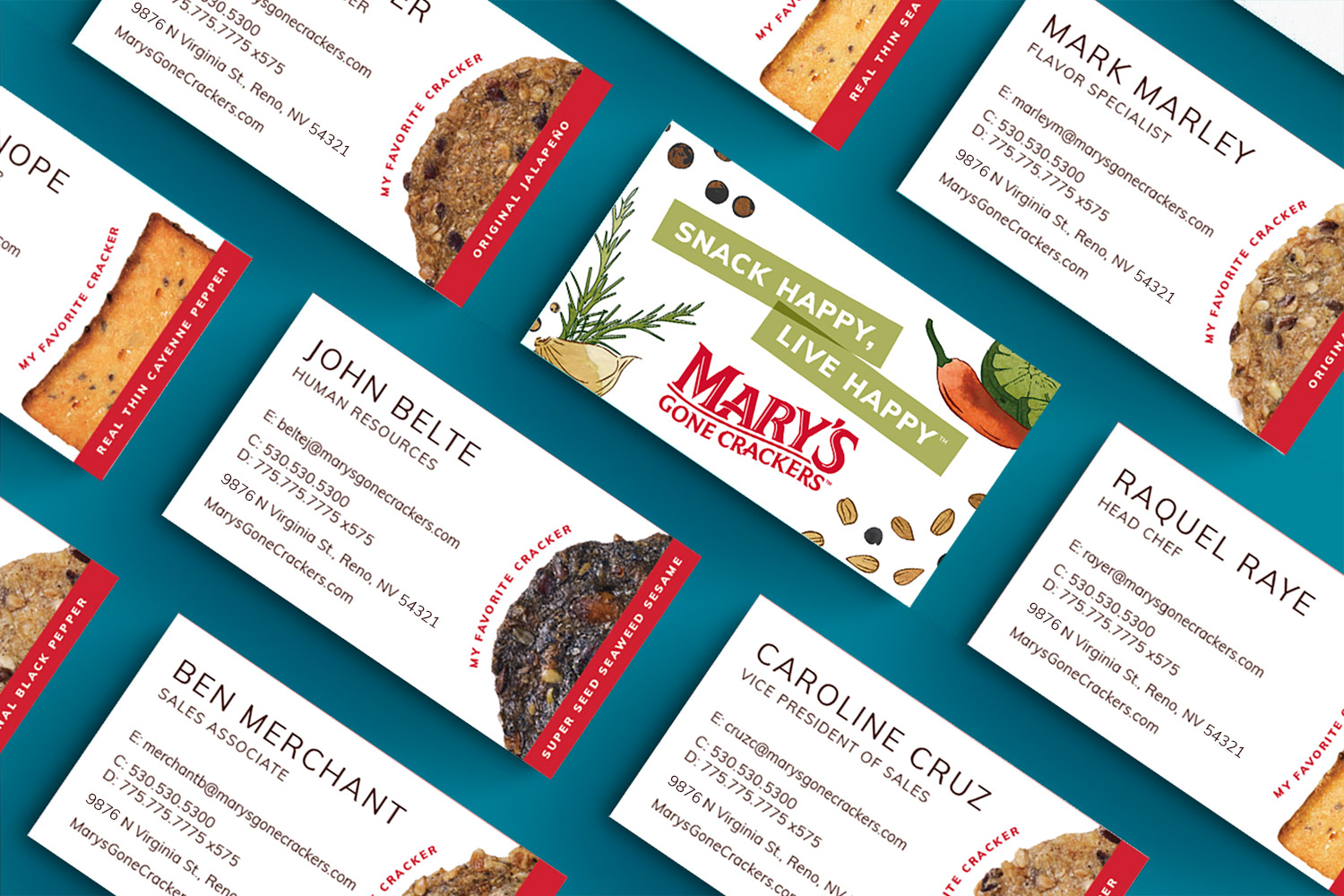 Mar's Gone Crackers Buisness Cards