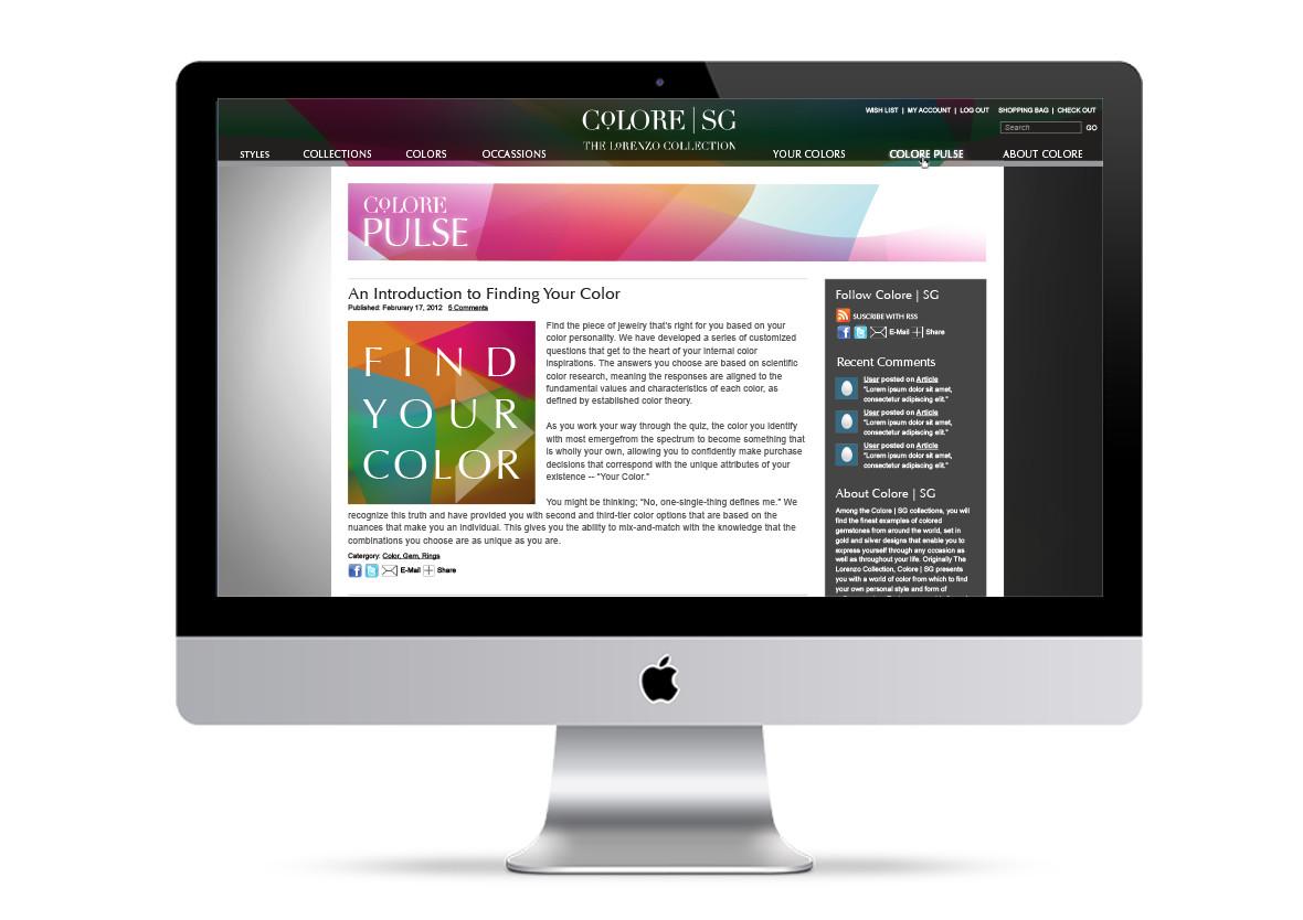 Colore | SG Website Concept