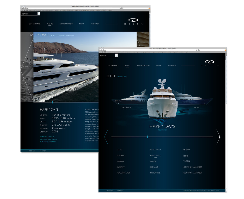 Delta Marine Website Concept