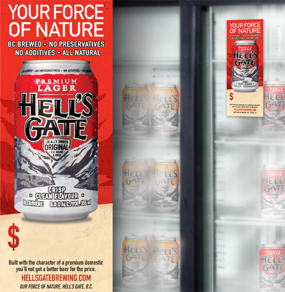 Hell's Gate Fridge Display