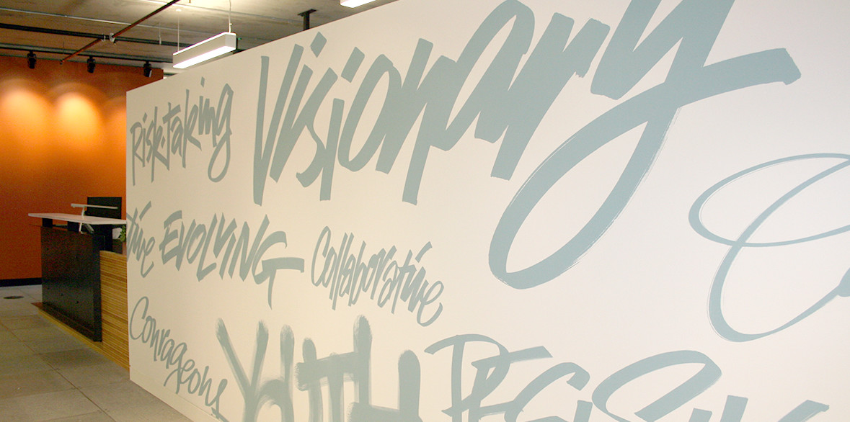 Raikes Foundation Wall Graphics