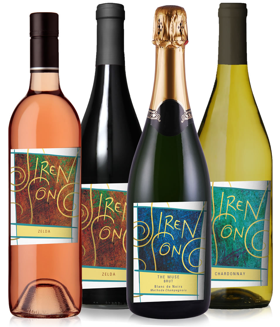 Siren Song Winery Bottle Labels